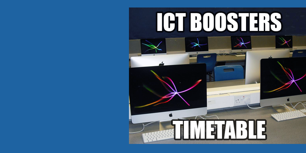 GCSE ICT Boosters have Started